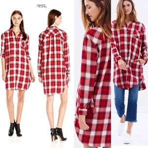 Maison Scotch & Soda checkered shirt dress Sz L